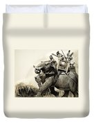 The Battle Of Zama In 202 Bc Duvet Cover
