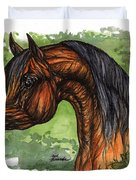 The Bay Arabian Horse 1 Duvet Cover