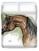 The Bay Arabian Horse 12 Duvet Cover