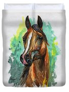 The Bay Arabian Horse 2 Duvet Cover