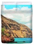 The Bay At Kealakekua Duvet Cover