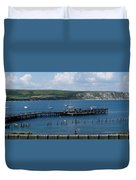 The Bay At Swanage Duvet Cover