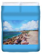 The Beach At Ponce Inlet Duvet Cover by Deborah Boyd