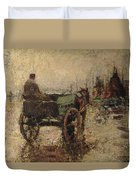 The Beach At St Ives Duvet Cover