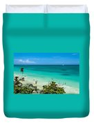 The Beach At The Tulum Ruins Duvet Cover