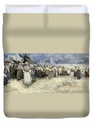 The Beach Berck Sur Mer Duvet Cover by Patty Townsend Johnson