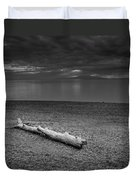 The Beach In Black And White Duvet Cover