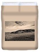 The Beach In Sepia Duvet Cover