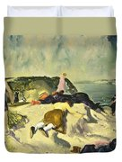 The Beach Newport Duvet Cover by George Wesley Bellows