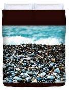The Beach Of Rocks Duvet Cover