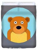 The Bear Cute Portrait Duvet Cover