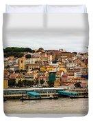 The Beautiful Colors Of Lisbon Duvet Cover