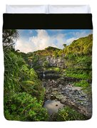 The Beautiful Scene Of The Seven Sacred Pools Of Maui. Duvet Cover
