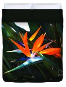 The Beauty Of A Bird Of Paradise Duvet Cover