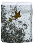 The Beauty Of Autumn Rains - A Vertical View Duvet Cover