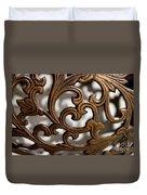 The Beauty Of Brass Scrolls 2 Duvet Cover