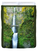 The Beauty Of Multnomah Falls Duvet Cover