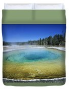 The Beauty Pool Yellowstone Np Wyoming Duvet Cover