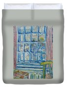 The Bedroom Window Oil & Pastel On Paper Duvet Cover