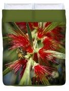 The Bee And Bottlebrush Duvet Cover