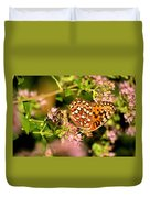 The Bee And The Butterfly Duvet Cover