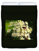 The Bee And The Flowers At Troldhaugen Duvet Cover