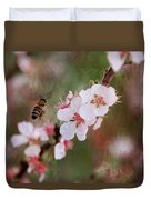 The Bee In The Cherry Tree Duvet Cover