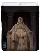 The Benjamin Franklin Statue Duvet Cover