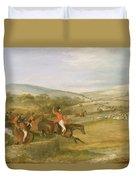 The Berkeley Hunt, Full Cry, 1842 Duvet Cover