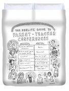 'the Berlitz Guide To Parent-teacher Conferences' Duvet Cover by Roz Chast