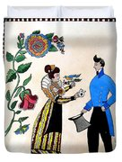 The Betrothal-folk Art Duvet Cover