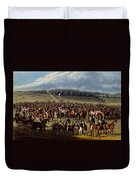 The Betting Post, Print Made By Charles Duvet Cover