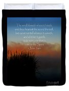 The Bible John Three Eight Duvet Cover