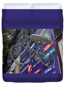 The Bicycle Peddler Duvet Cover