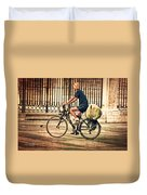 The Bicycle Rider - Leon Spain Duvet Cover