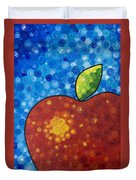 The Big Apple - Red Apple By Sharon Cummings Duvet Cover