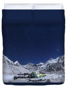 The Big Dipper Rise Above The Himalayas Duvet Cover