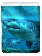 The Biggest Shark Duvet Cover