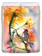 The Bird And The Flower 01 Duvet Cover