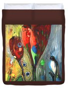 The Bird And The Tulips Duvet Cover