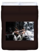 The Birth Of The Double Star. Anna At Eureka Waterfalls. Mauritius. Tnm Duvet Cover