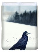The Black Crow Knows Duvet Cover