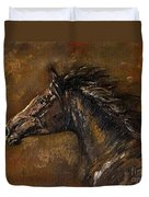 The Black Horse Oil Painting Duvet Cover