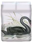 The Black Swan Duvet Cover by John Gould