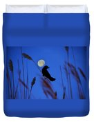 The Blackbird And The Moon Duvet Cover
