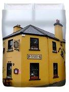 The Blind Piper Pub Duvet Cover