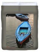 The Blue Boat Duvet Cover by Kim Bemis