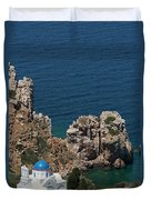 The Blue Domed Church At The Water S Duvet Cover