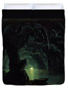 The Blue Grotto Duvet Cover by Albert Bierstadt