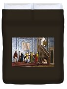 The Blue Mosque Duvet Cover by Jean Leon Gerome